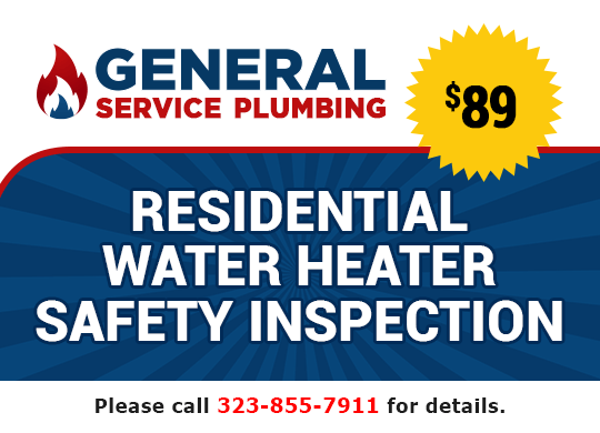 $89 residential water heater inspection coupon